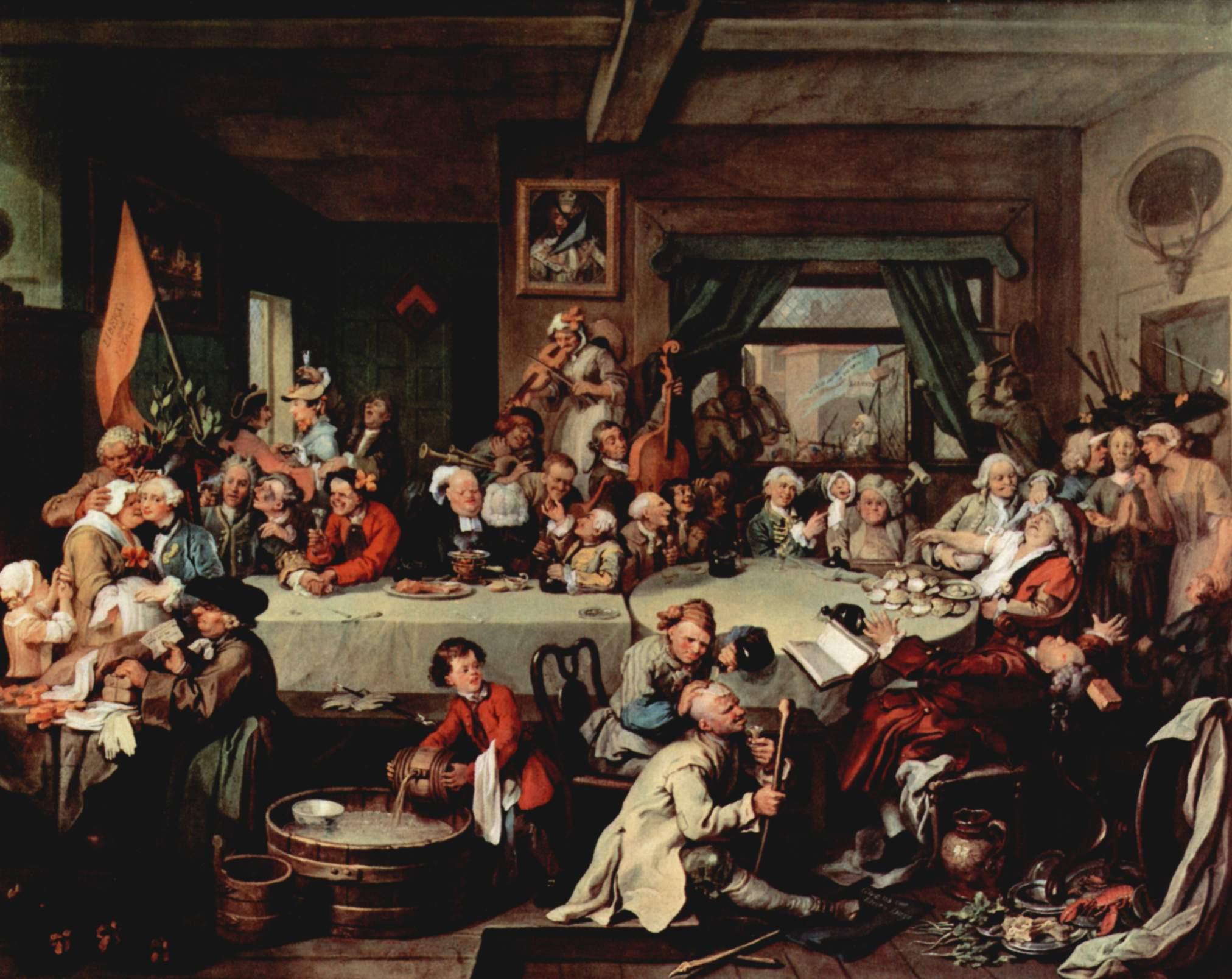 Resultado de imagen de Hogarth banquet