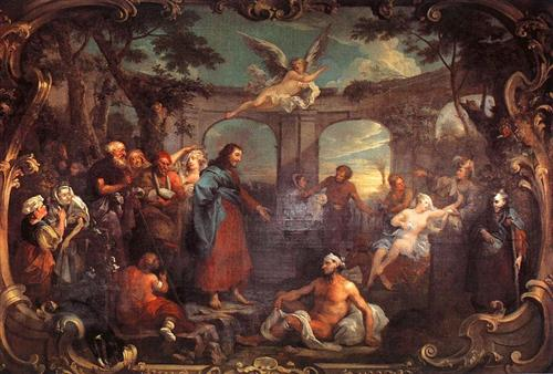 The Pool of Bethesda - William Hogarth