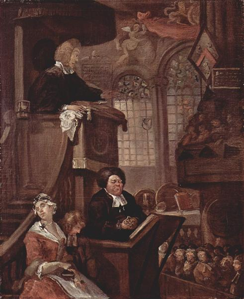 The sleeping church, 1728 - 1729 - William Hogarth