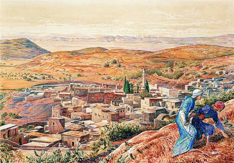 Distant View of Nazareth, 1860 - 1861 - William Holman Hunt