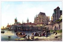 The City of Cologne, engraved by M.J. Starling after Leitch - Вільям Лейтон Лейтч