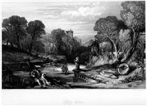 Tulleveolan, engraving by William Miller after Leitch, from Eight Engravings in Illustration of Waverley - Вільям Лейтон Лейтч