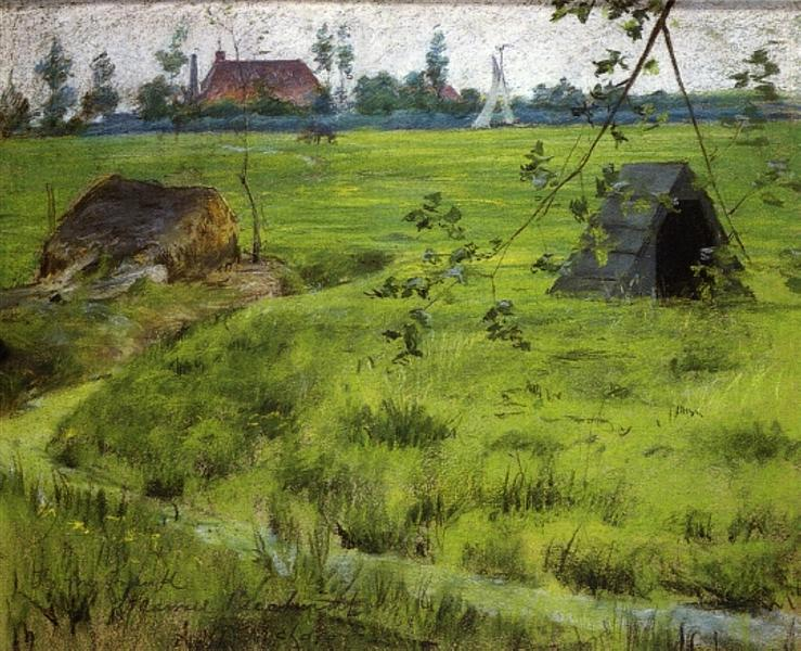 A Bit of Holland Meadows (aka A Bit of Green in Holland), 1883 - William Merritt Chase