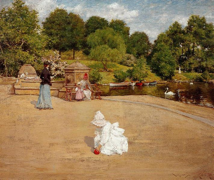 A Bit of the Terrace (aka Early Morning Stroll), 1890 - William Merritt Chase