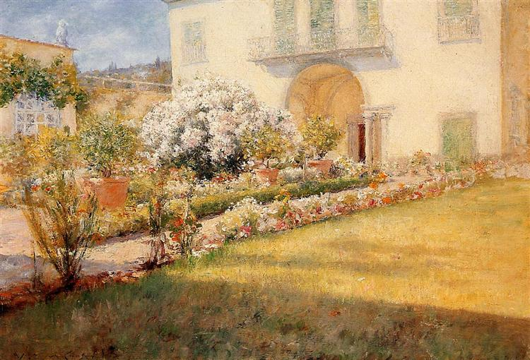 A Florentine Villa, c.1905 - c.1907 - William Merritt Chase