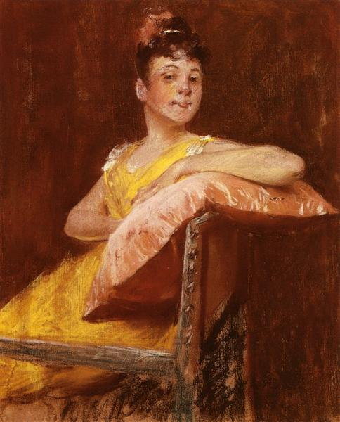 A Girl in Yellow (aka The Yellow Gown), 1900 - Уильям Меррит Чейз