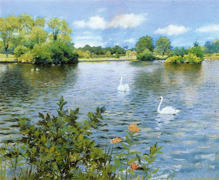 A Long Island Lake, c.1890 - William Merritt Chase