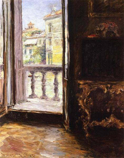 A Venetian Balcony, 1913 - William Merritt Chase
