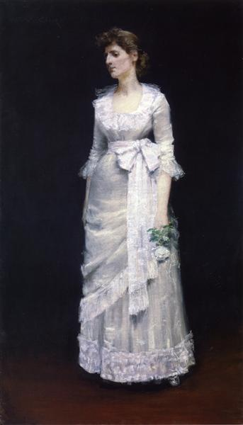 Lady in White Gown, c.1885 - William Merritt Chase