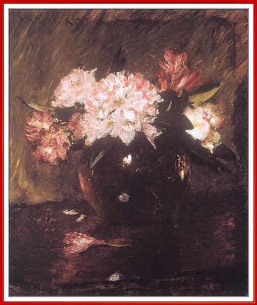Peonies - William Merritt Chase