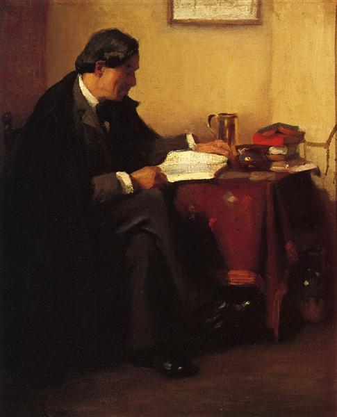 Portrait of Elbert Hubbard (The Roycrafter), 1902 - William Merritt Chase