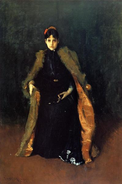 Portrait of Mrs.C. (Alice Gerson Chase), c.1890 - c.1895 - William Merritt Chase