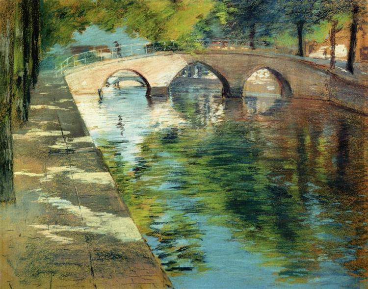 Reflections (aka Canal Scene), 1885 - William Merritt Chase