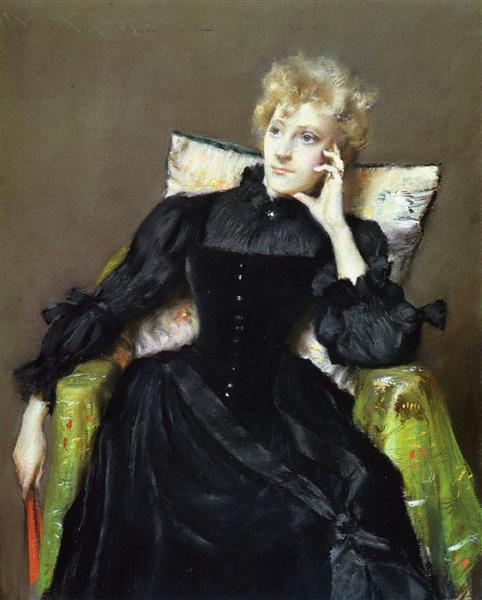 Seated Woman in Black Dress, 1890 - William Merritt Chase