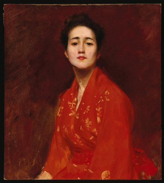 Study of Girl in Japanese Dress, 1895 - William Merritt Chase