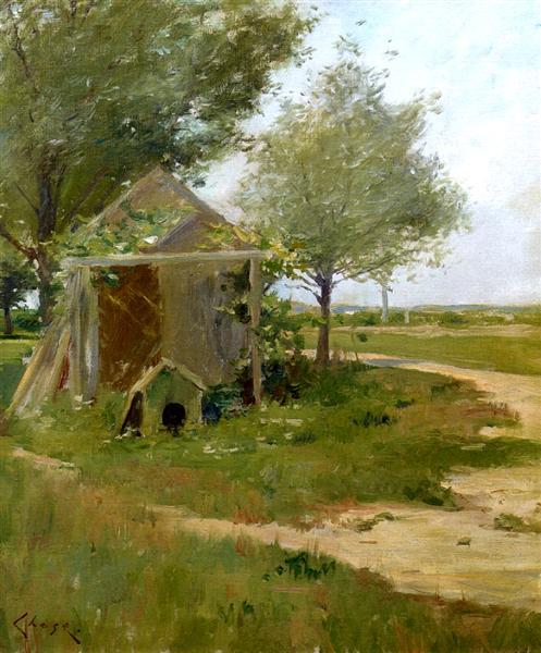 The Back Yard, Shinnecock, Long Island, New York, 1900 - Уильям Меррит Чейз
