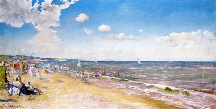 The Beach at Zandvoort - William Merritt Chase