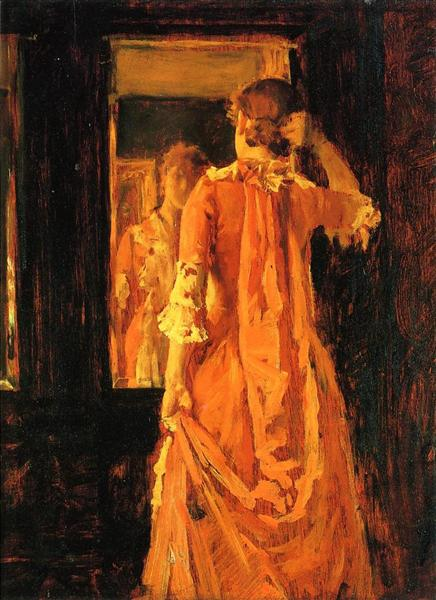 Young Woman Before a Mirror, c.1887 - William Merritt Chase
