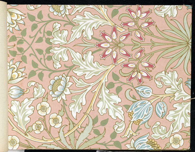 wallpaper hyacinth pattern 480 william morris
