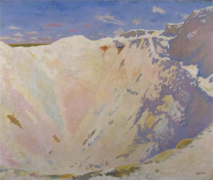Inside a Small Mine Crater, La Boisselle, 1917 - William Orpen