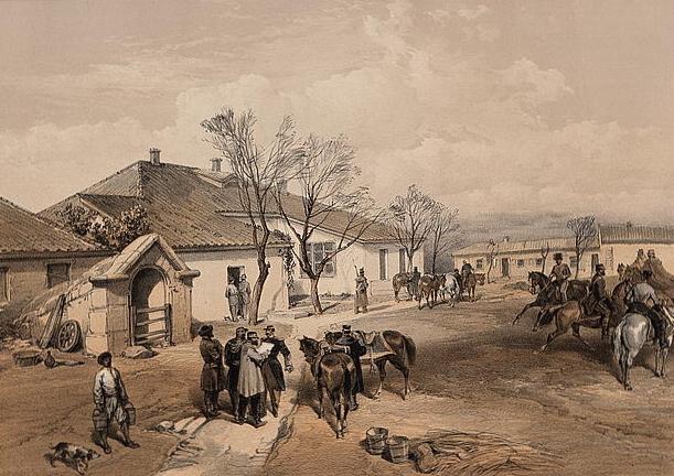 Lord Raglan's head quarters at Khutor-Karagatch - William Simpson