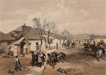 Lord Raglan's head quarters at Khutor-Karagatch - Вільям Сімпсон