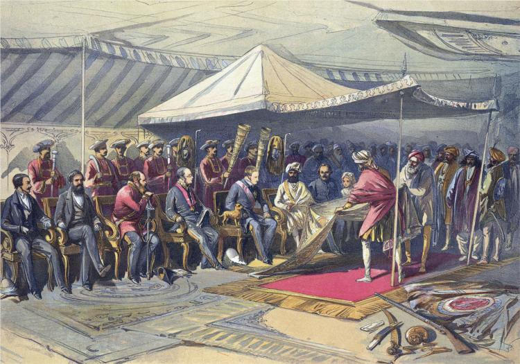 Return visit of the Viceroy to the Maharaja of Cashmere, 1867 - William Simpson