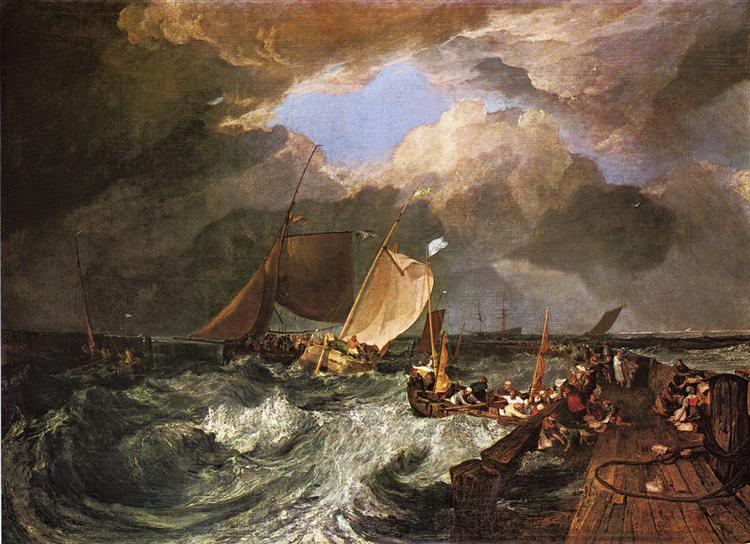 Calais Pier, with French Poissards Preparing for Sea, an English Packeet Arriving - William Turner
