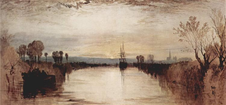 Chichester Canal, c.1828 - J.M.W. Turner