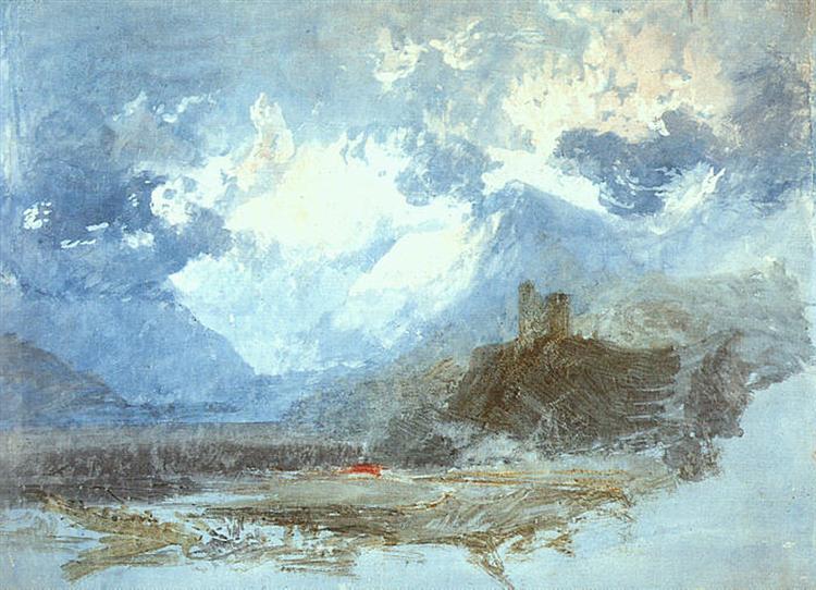 Dolbadern Castle, 1799 - J.M.W. Turner