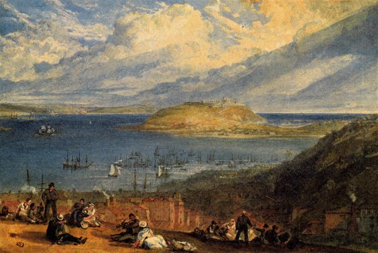 Falmouth Harbour, Cornwall - J.M.W. Turner