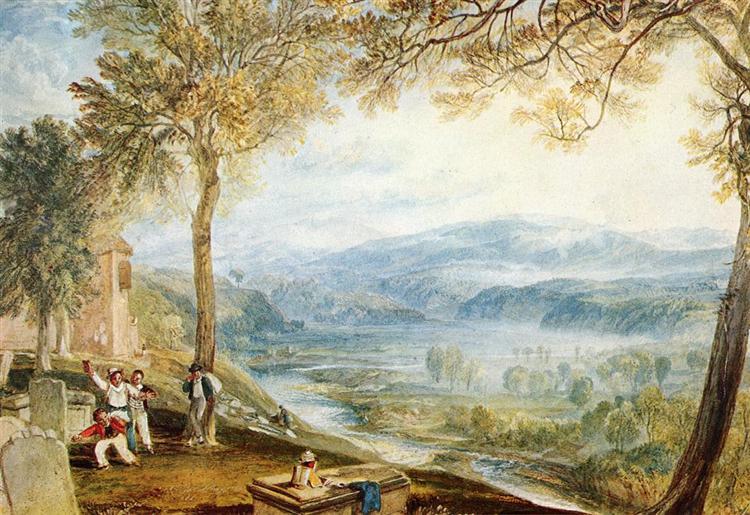 Kirby Londsale Churchyard, c.1818 - J.M.W. Turner