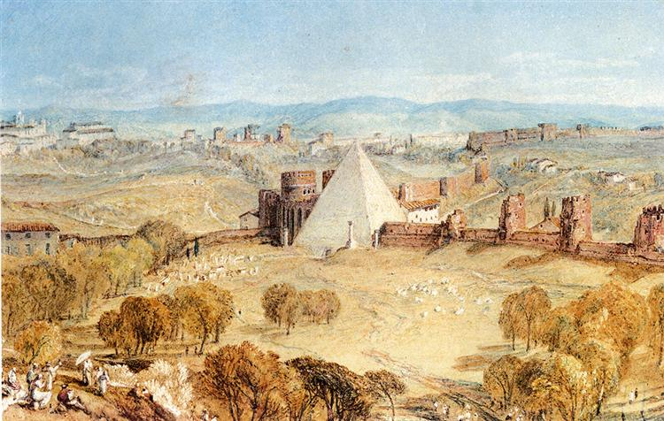 Вид на Рим з пагорба Тестаччо - Вільям Тернер