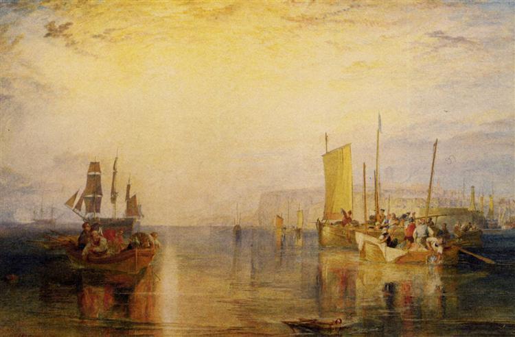 Sunrise, Whiting Fishing at Margate - J.M.W. Turner