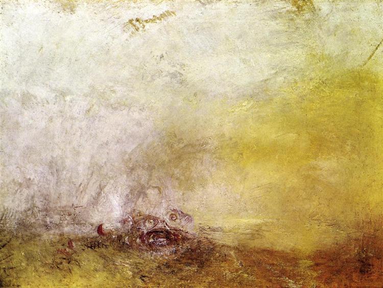 Sunrise with Sea Monsters, c.1845 - J.M.W. Turner