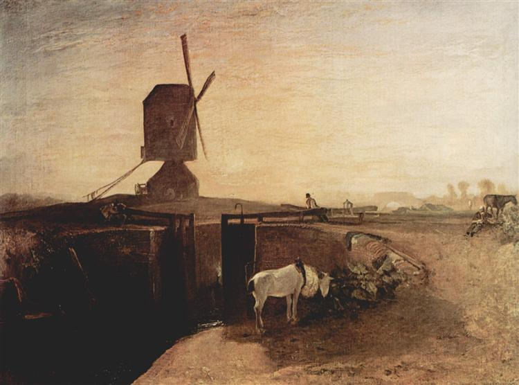 The big connection channel at Southall Mill, 1810 - J.M.W. Turner