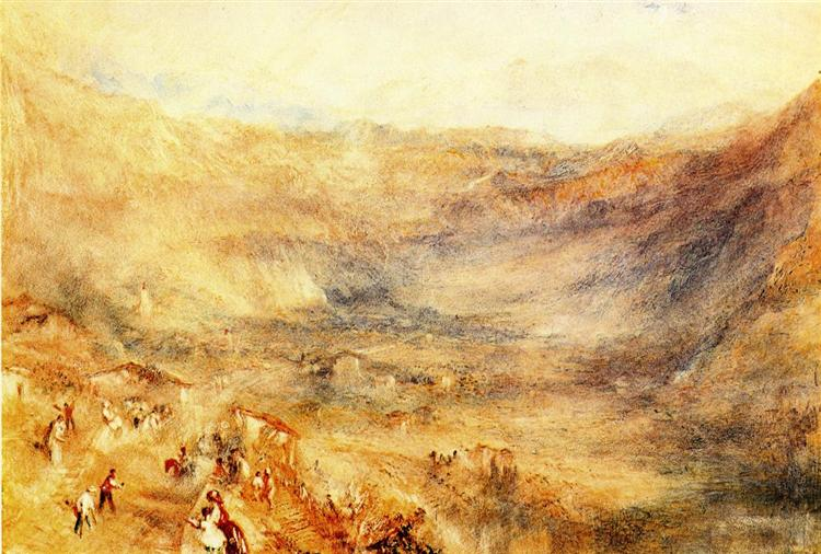 The Brunig Pass, from Meringen, 1847 - 1848 - J.M.W. Turner