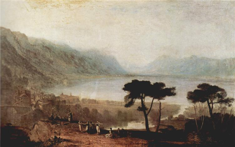 The Lake Geneva seen from Montreux, 1810 - J.M.W. Turner