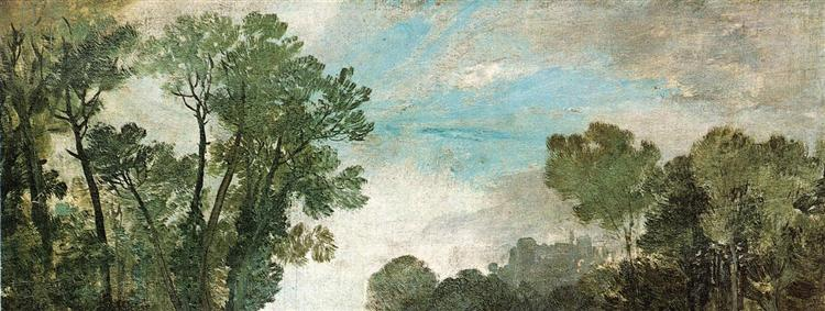 Tree Tops and Sky, Guildford Castle, 1807 - J.M.W. Turner