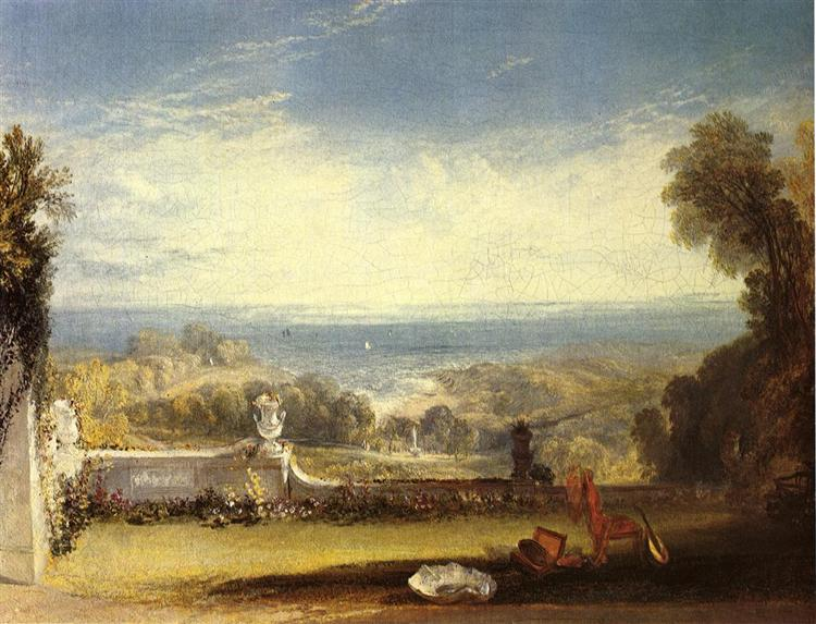 View from the Terrace of a Villa at Niton, Isle of Wight, 1826 - J.M.W. Turner