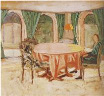 Diana Churchill in the Dining Room at Chartwell - Winston Churchill
