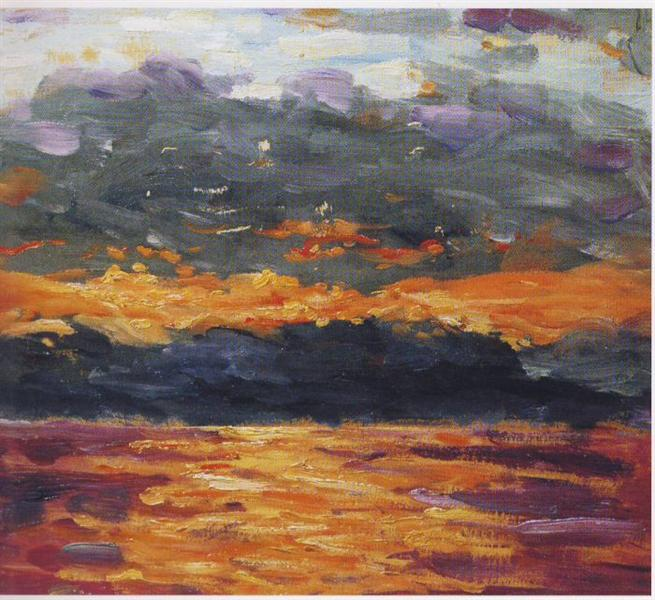 Sunset over the Sea - Winston Churchill