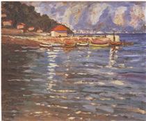The Harbour at St. Jean Cap Ferrat - Winston Churchill