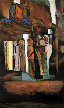 One of the Stations of the Dead - Wyndham Lewis