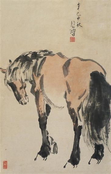 A Standing Horse, 1941 - Xu Beihong