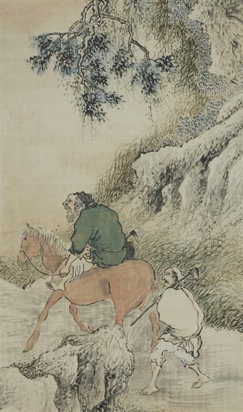 Herb Gatherers in the Mountains (detail) - Yosa Buson