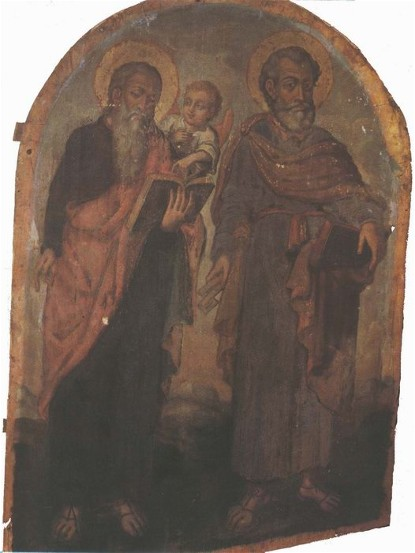 Icon of Apostles Peter and Matthew - Yov Kondzelevych
