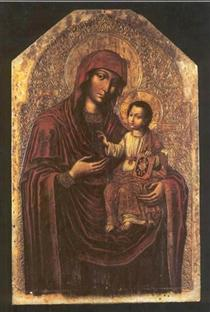 Icon of the Mother of God from the Maniava Hermitage iconostasis - Yov Kondzelevych