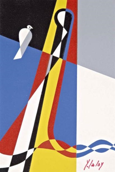 Composition with bird - Yves Laloy
