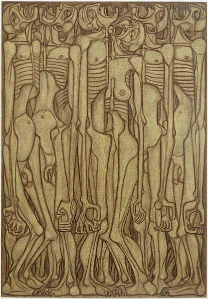 Untitled, 1956 - Zdzisław Beksiński